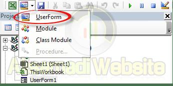 افزودن userform در vba